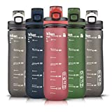 Opard Sports Water Bottle, 20 Oz BPA Free Non-Toxic Tritan Leak-Proof Plastic Water Bottle Container with Filter for The Gym Outdoors Running (Red, 20oz/600ml)