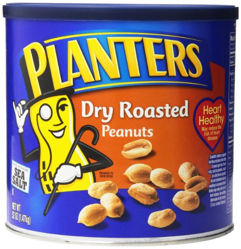 Planters Dry Roasted Peanuts, 2 Count, 104 Ounce by Planters