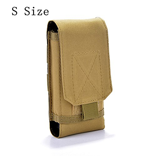 Tactical MOLLE Smartphone Holster, Universal Army Mobile Phone Belt Pouch EDC Security Pack Carry Accessory Kit Blowout Pouch Belt Loops Waist Bag Case For iPhone SE 5S Samsung Galaxy S4 mini (Mobile Phone Pouch)