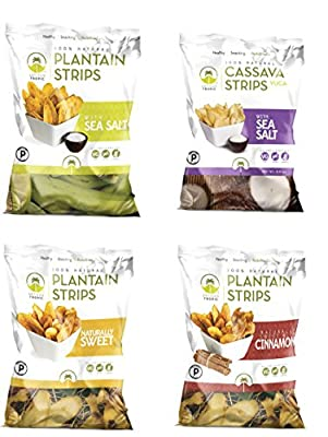 Artisan Tropic Plantain & Cassava Strips Sampler, Cooked in Sustainable Palm Oil, Paleo Certified, 1.75 Oz each