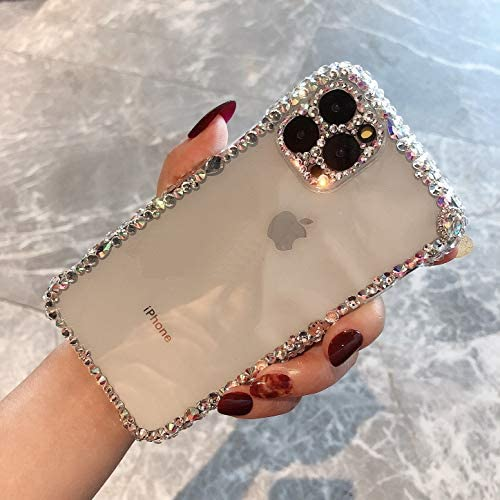 MOSEZA for iPhone 11 Pro Max Case Luxury Glitter Bling Silicone Rhinestone Cute Protective Phone Case for Women Girl for iPhone 11 Pro Max 6.5 inch