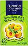 London Fruit & Herb Company Green Tea, with Peach, 20 Count
