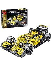 XIAN Raceauto voor Ferrari Formule F1, Mork Racer 023009, 1100 klembouwstenen technologie auto model bouwstenen, 1:14 bouwspeelgoed compatibel met Lego Technic