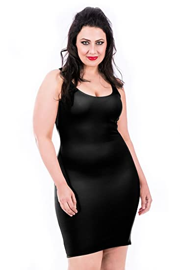 a2f1b634be57 InstantFigure Plus Size Womens Shapewear Tank Slip Dress at Amazon Women's  Clothing store: