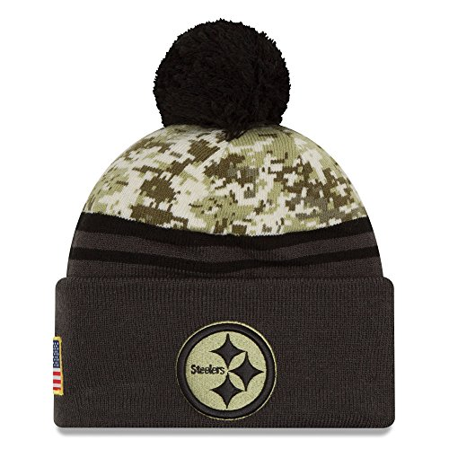 - New Era Men's NFL Pittsburgh Steelers 16 Salute to Service Knit Hat Camo Size One Size