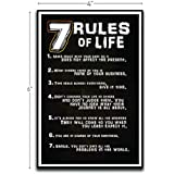 7 Rules of Life Motivational Inspirational Funny Magnet - Refrigerator Toolbox Locker Car Ammo Can