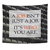 Emvency Tapestry Polyester Fabric Print Home Decor Life Quote on Blurred Positive Better Everyday Happy Aim Attitude Building Wall Hanging Tapestry for Living Room Bedroom Dorm 50x60 Inches