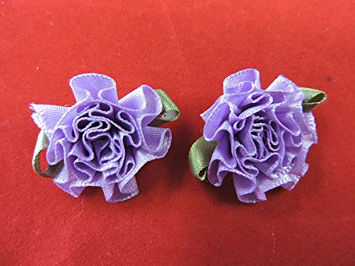 Victorian Cabbage Flower Applique Pair KE-1184