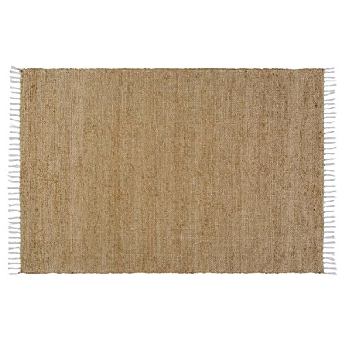 VHC Classic Country Farmhouse Flooring - Burlap Natural Chindi/Rag Rug, 4' x 6'