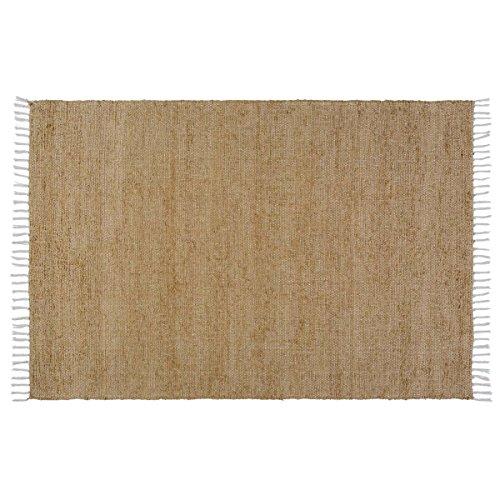 VHC Classic Country Farmhouse Flooring - Burlap Natural Chindi/Rag Rug, 4' x 6'