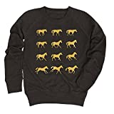 Air Waves Gold Horse Motion Silhouettes -YOUTH GIRLS SLOUCHY FT-XL