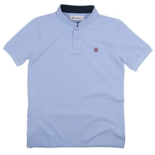 Sinologie - Polo de piqué con Cuello Mao de algodón, Color Azul ...