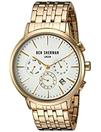 Ben Sherman Men's 'Portobello Professional' Quartz Stainless Steel Automatic Watch, Color:Silver-Toned (Model: WB028GMA)