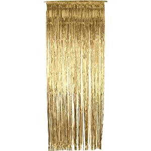 Great Gold Metallic Shimmer Curtain 3ft X 8ft   Pack Of 5
