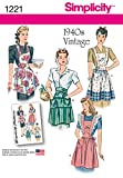 Simplicity 1221 1940's Vintage Fashion Women's