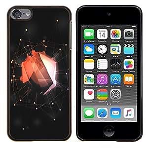 For Apple iPod Touch 6 6th Touch6 Case , Resumen Web Red- Diseño Patrón Teléfono Caso Cubierta Case Bumper Duro Protección Case Cover Funda