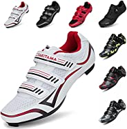 SAK1TAMA Unisex Bicycle Men's Women's Cycling Shoes - Riding Spin Road Shoe SPD Compatible Cleats with