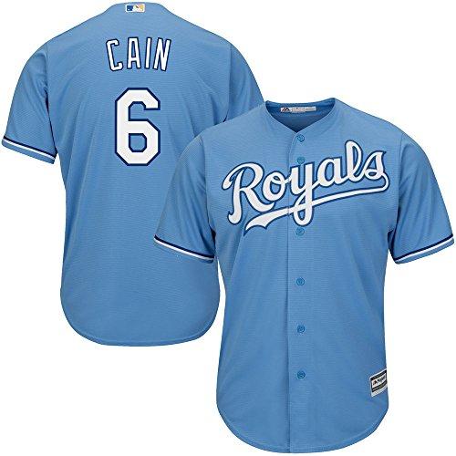 Lorenzo Cain Kansas City Royals MLB Youth Light Blue Alternate Cool Base Replica Jersey (Size Small (Royal Youth Mlb Replica Jersey)