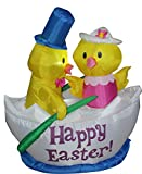 5 ft. Airblown Happy Easter Chicks Inflatable - Yard Decoration
