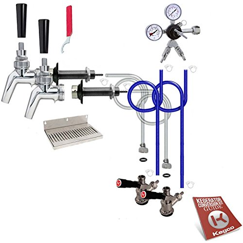 Kegco 2 Faucet Premium Door Mount Kegerator Kit Without Tank 2PSCK-NT by Kegco