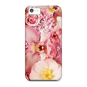 Perfect Pink Orchids Case Cover Skin For Iphone 5c Phone Case