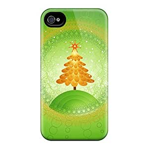 For iphone 6 Premium Tpu Case Cover Beautiful Christmas Tree Design Protective Case