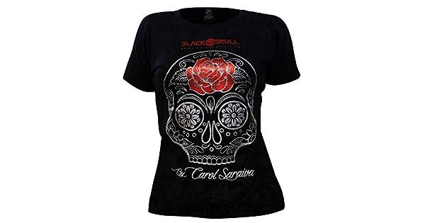 05d8174ac Camiseta Carol Saraiva Preta - Black Skull  Amazon.com.br  Amazon Moda