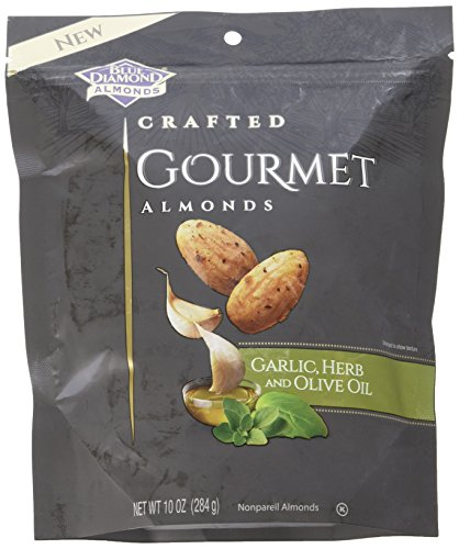 Blue Diamond Almonds Gourmet Almonds, Garlic, Herb and Olive Oil, 10 Ounce