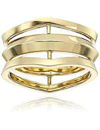 Michael Kors Knife Edge Gold-Tone Open Ring, Size 7