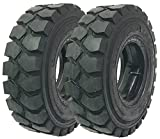 Set of 2 New ZEEMAX HD 6.50-10 /10TT Forklift Tires w/Tube & Flap & Rim Guard