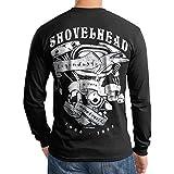 Shovelhead Engine NEW Motorcycle Biker Men T Shirt Longsleeve Black (X-Large)