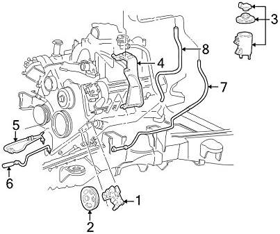 Ford 8L3Z-3A719-J Power Steering Pressure Hose