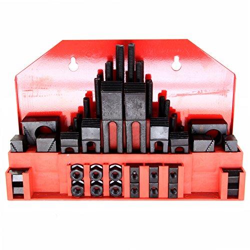 [해외]HFS (Tm) 52 Pc; /HFS (Tm) 52 Pc ; 9 16  Slot ; 1 2 -13 Stud Hold Down Clamp Clamping Set Kit for Bridgeport