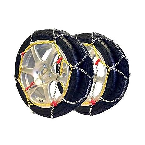 POLARMET45 - Juego 2 Cadenas de nieve, 9mm. POLARMET talla 50, compatibles con neumáticos
