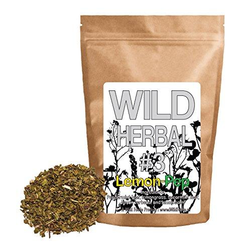 Foods Spearmint (Wild Herbal #3 Lemon-Pep Tea Blend by Wild Foods - 5 Ingredient Tea with Peppermint, Lemongrass, Spearmint, Lemon verbena and Lemon Balm, 100% Natural)