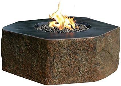 Amazon Com Elementi Outdoor Fire Table Columbia Cast Concrete Fire Pit Natural Gas Garden Outdoor