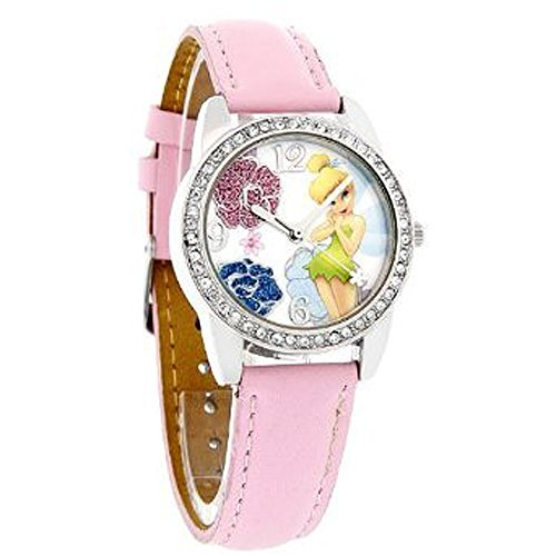 Floral Dial Face Faux Leather Band Ladies Watch (25mm) ()