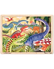 Melissa & Doug Dinosaurs Wooden Jigsaw Puzzle with Storage Tray (24 pcs)