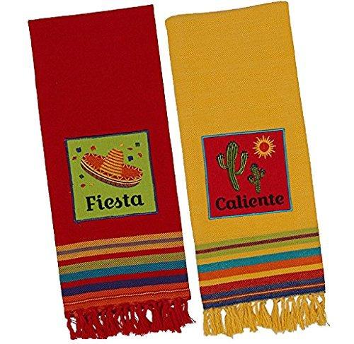caliente and fiesta enbellished southwest kitchen dish towel set ebay