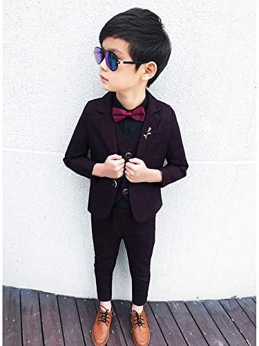 ボーイズ フォーマル スーツ - 男の子 長袖 子供フォーマルスーツ 子供服 男の子 ズボン 結婚式 発表会 演奏会