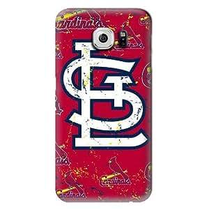 S6 Edge Case, MLB - St. Louis Cardinals - Cap Logo Blast - Samsung Galaxy S6 Edge Case - High Quality PC Case