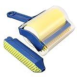 Teanfa Reusable Sticky Picker Set Cleaner Lint Roller Pet Hair Remover Brush
