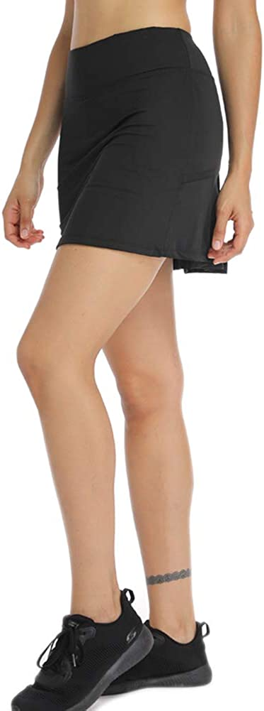 con tasche e pantaloncini a pieghe da donna Gonna da tennis Geekbuzz