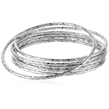 Panacea Diamond Cut Bangle Bracelet Set