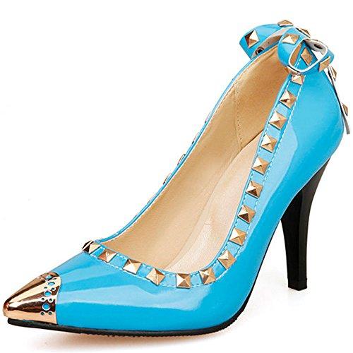 Eleganceoo A Fine Di Delle Di Anno Piattaforma Alti Blu Pompe Tacchi Delle Matrimonio Donne Spillo Strass Vestito Ballo rrwvaU1q