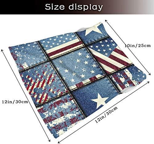 フェイスカバー Uvカット ネックガード 冷感 夏用 日焼け防止 飛沫防止 耳かけタイプ レディース メンズ Grunge Patchwork With USA Flags