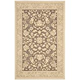 Safavieh Beach House Collection BCH8012-2852 Dark Brown and Green Area Rug (6'7″ x 9'6″)