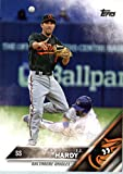 2016 Topps #233 J.J. Hardy Baltimore Orioles Baseball Card in Protective Screwdown Display Case