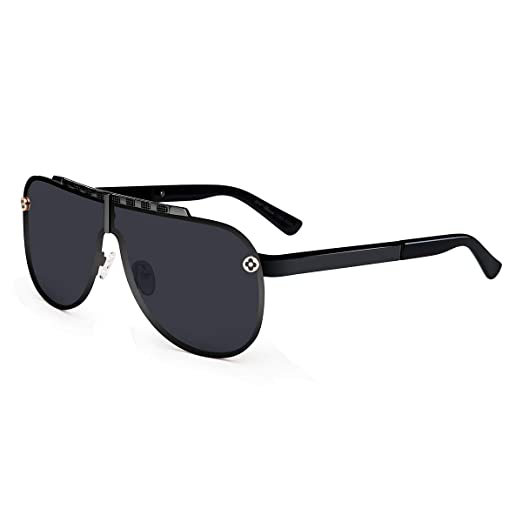 3a9bbb0d83e Amazon.com  UV-BANS Men Women Large Aviator Sunglasses for Driving ...