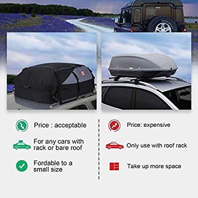 Packing Bag 20 Cubic Feet Waterproof Rooftop Cargo Carrier Soft Box Luggage with 8 Reinforced Straps Suitable for All Vehicle with//Without Rack Car Roof Bag Cargo Carrier 20 Cubic